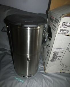 Bunn Stainless Steel Iced Coffee Iced Tea Dispenser Tdo 4 Oval