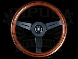 Nardi Classic Wood Steering Wheel 330mm Black Spokes Horn Button 5061 33 2000