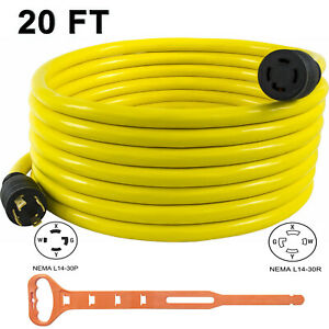 30 Amp 40 Ft Nema L14 30 4 Wire 10 Gauge 125 250v Generator Power Cord 20601 040