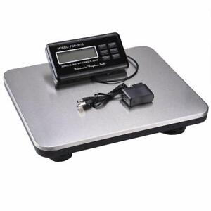 660lbs Lcd Ac Digital Floor Bench Scale Postal Platform Shipping Portable New