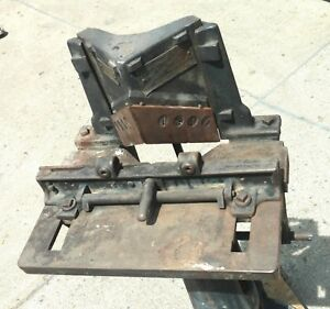 5 Antique 90 Degree Corner Notcher Shear Vintage American Woodworking Machinery