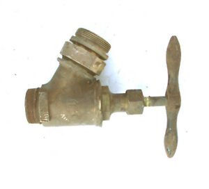 Large Brass Fire Hose Male Valve 2 1 4 Pipe