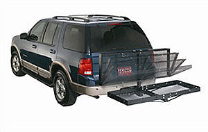 Lund 601001 Hitch Mounted Cargo Carrier Folding