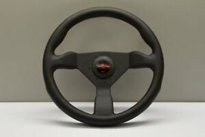 Personal Neo Grinta 330mm Steering Wheel Black Leather Red Stitch 6497 33 2090