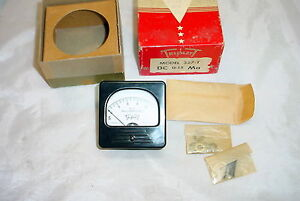 Nos Triplett Analog Panel Ammeter 0 15 Ma Dc Tested Good