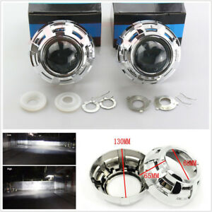 2 Pcs 3 Hid Bi Xenon Car Truck Projector Lens Headlight Retrofit Kit H1 H4 H7