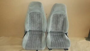 00 02 Camaro Rs Ss Z28 Pewter Cloth Seat Seats Set 1008 9