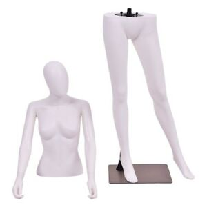 5 8 Ft Female Women Mannequin Egghead Manikin With Metal Stand Display Dress Us