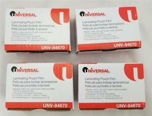 Lot Of 400 Universal Laminating Pouch Film 4 Boxes 2 5 16 X 4 1 8 Unv_84670