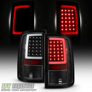 Black 2013 2018 Dodge Ram 1500 2500 3500 Led Tube Tail Lights Brake Lamps