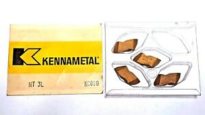 box Of 4 Kennametal Nt3l Kc810 Carbide Top notch Grooving Inserts