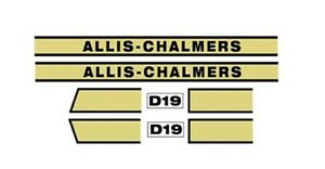 Acd19 New D19 Hood Decal Set For Allis Chalmers Tractor Ac Decals