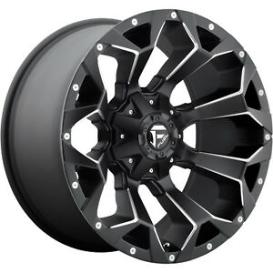 18x9 Black Fuel Assault D546 8x6 5 20 Rims Nitto Trail Grappler 285 65 18 Tires