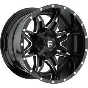 18x9 Black Fuel Lethal D567 8x180 1 Rims Nitto Trail Grappler 285 65 18 Tires