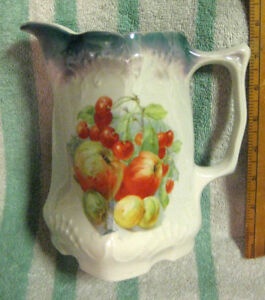 Antique German Porcelain Water Pitcher
