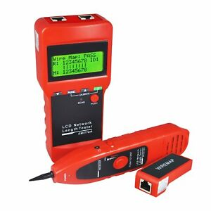 Network Lan Cable Tester Wire Tracker Tracer Length Scanner Rj45 Usb Coax Bnc