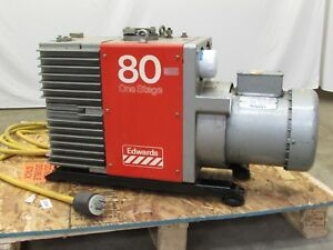 Edwards 80 E1m80 One Stage Oil Sealed Rotary Vane High Vacuum Pump