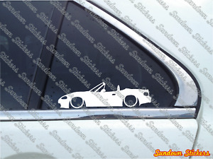 2x Lowered Car Outline Stickers For Mazda Mx5 Miata Nb facelift Jdm
