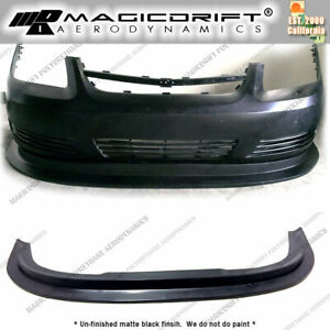 For 05 10 Chevy Cobalt Base Mda Style Front Bumper Flat Splitter Lip Body Kit
