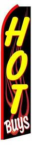 Hot Buys Flames Feather Flutter Advertising Swooper Banner 12 Flag 15 Pole