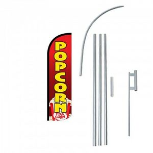 Popcorn Flag Kit 3 Wide Windless Swooper Feather Advertising Sign