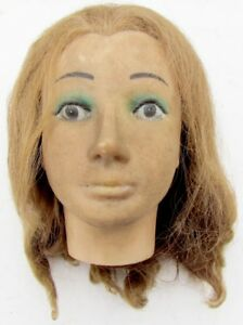 Vintage Life Size Realistic Mannequin Head Dress Form Display