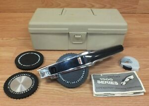 Genuine Vintage Dymo 1570 Esselte Tapewriter Label Maker In Case read