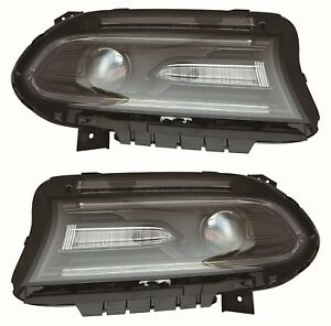 Dodge Charger 2015 2018 Xenon Hid Headlights Head Lamps Assembly Pair