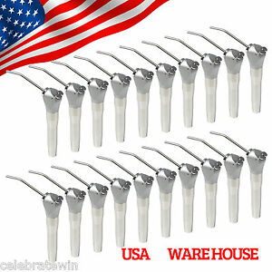 20 Dental Air Water Spray 3 Way Syringe Handpiece W Nozzles Tips 40pcs Whiten