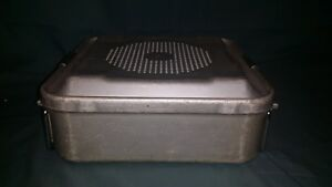 Aesculap Jk340 Half Size Sterilization Container Case Solid Medical Surgical Vet