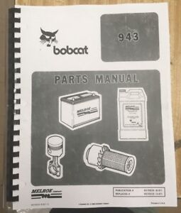 Bobcat 943 Skid Steer Loader Parts Manual Pub 6570035