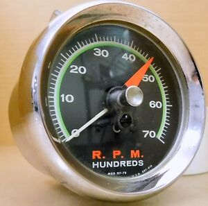 Sun Sst 70 Super Tach 7 000 Rpm Green Face W Mount Chrome Cup