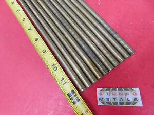 10 Pieces 7 16 C360 Brass Solid Round Rod 12 Long New Lathe Bar Stock H02 437