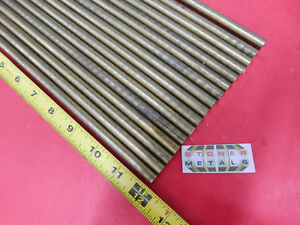 16 Pieces 7 16 C360 Brass Solid Round Rod 12 Long New Lathe Bar Stock H02 437