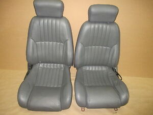 97 99 Firebird Formula Med Gray Leather Seat Seats Set 0526 9