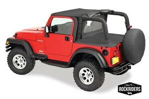 97 06 Jeep Wrangler Tj Windbreaker Tonneau Bikini Top With Channel Summer Kit