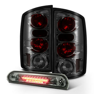 Smoked 2002 2006 Dodge Ram 1500 03 06 2500 3500 Tail Lights Led 3rd Brake Lamp