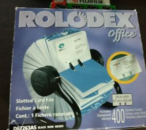 Rolodex Office D67263as Desk Business Card Holder 2 5 8 X 4 New In Box
