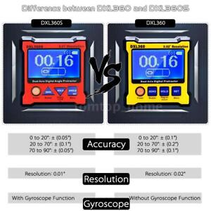 Dxl360s High precision Dual Axis Digital Lcd Angle Protractor Level Gauge N3t2