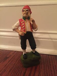 Vintage Henning Hand May With Scythe 8 Inches Tall