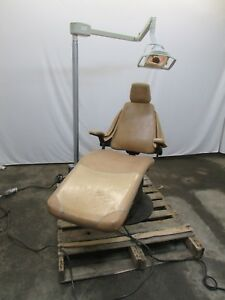 Dental ez Sdp 1b Dental Tattoo Exam Chair Tan Working W Light Adec 2544 Cart