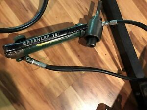 Greenlee 767 Hydraulic Punch With 746 Hydraulic Ram