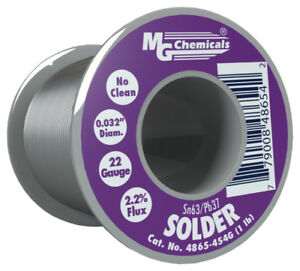 Mg Chemicals 4865 454g 63 37 Tin Lead Solder 1 0 Pound Spool No Clean