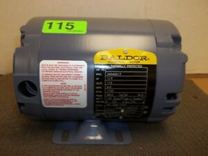 New Baldor Electric Motor 34g40x17 1 3hp 1 Ph 115v 1725rpm