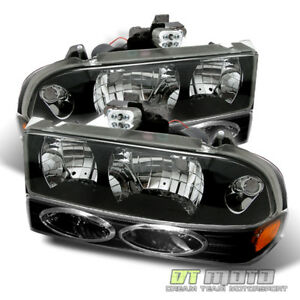 Black 98 04 Chevy S10 Blazer Crystal Headlights bumper Signal Lights Lamps