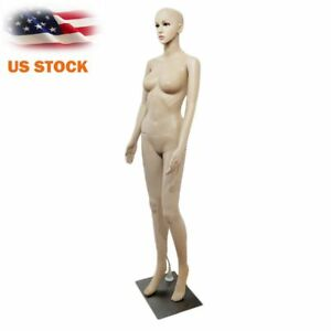 Female Straight Hand Bent Foot Body Model Mannequin Skin Color Clothes Display