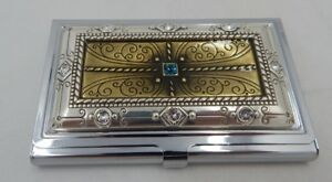 Brighton Metallic Regal Business Card Case Nwt E99520