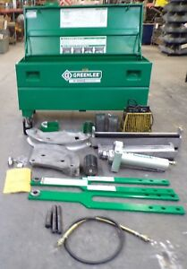 Greenlee Hydraulic Conduit Bender Rigid For 2 1 2 3 3 1 2