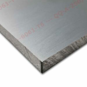 6061 t651 Aluminum Plate 2 1 2 Inch X 7 1 2 Inches X 24 Inches
