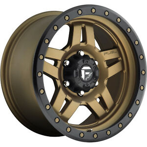18x9 Bronze Fuel Anza D583 8x6 5 1 Rims Nitto Trail Grappler 285 65 18 Tires